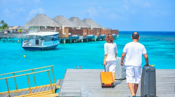 Vacanciers à la mer